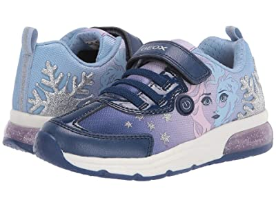 Geox Kids Frozen Spaceclub 7 (Toddler/Little Kid) (Navy/Lilac) Girl