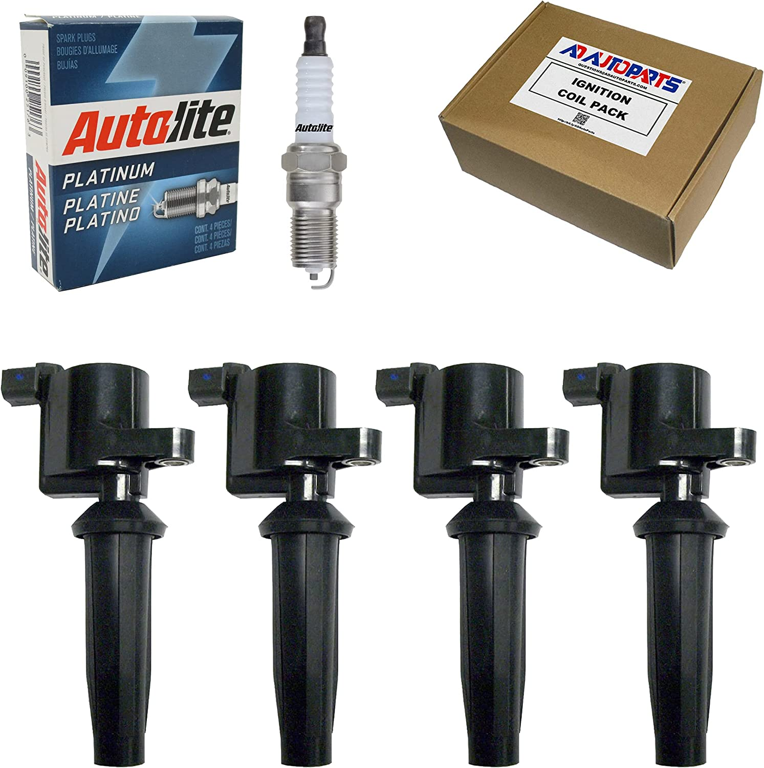 4 Ignition Coils + Autolite For Plugs Ranking TOP11 New product! New type AP104 Platinum Spark
