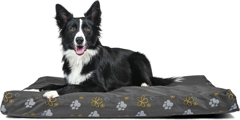 Furhaven Pet Dog Bed   Deluxe Memory Foam Indoor Outdoor Garden Mattress Pet Bed for Dogs & Cats, Iron Gate, Large