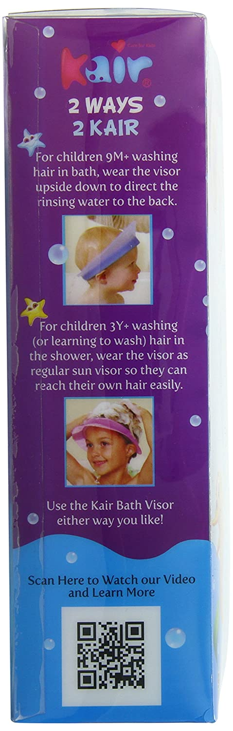 Kair Bath Visor for Babies, Safe Silicone Shower Cap for Kids, Shower Water Guard for Baby Bath and Toddler Bath - Blue
