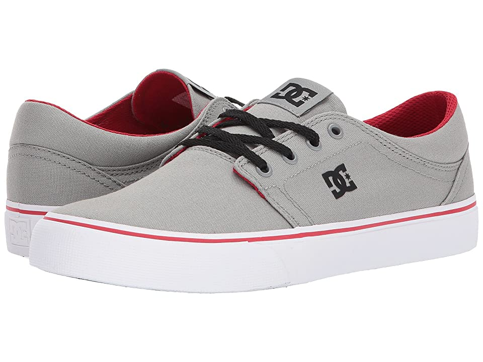 DC Trase TX (Grey/Red) Skate Shoes