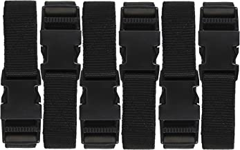 Harrier 72-Inch Utility Strap with Quick-Release Buckle, Black, 6-Pack