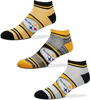 NFL Triplex Heathered No-Show Ankle Socks - 3 Pack