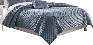Croscill Carissa King Quilt, Periwinkle