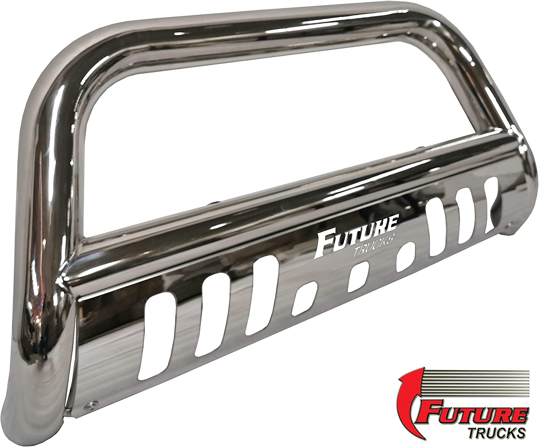 Black Fits Ford F150 Future Trucks Bull Bar High Grade Steel Construction with Skid Plate /& LED Light 2004-20