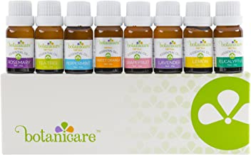 Premium Essential Oils Aromatherapy Kit, 8 10ml bottles Great for Aromatherapy diffuser, DIY Bath Bombs, lotion, soap making. Perfect Gift Set with dropper. Lavender, Peppermint, Grapefruit, Lemon.