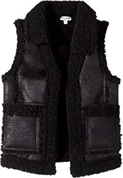 Pleather Sherpa Vest (Little Kids)