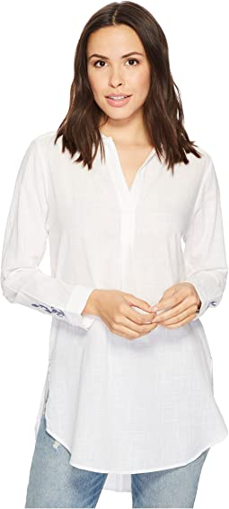 Back Button Magnolia Tunic in White
