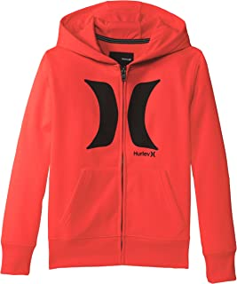 Hurley Big Boys' Thermal Fit Front Zip Crimson Hoody