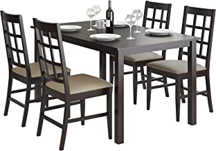 CorLiving Atwood Dining Set, Taupe Stone
