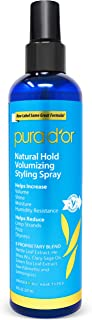 PURA D'OR Biotin Natural Hold Styling Spray (8oz) - Flexible Hold, Moisturizing & Volumizing Hairspray, Plant-Based Ingredients, Non-Aerosol & Earth Friendly (Packaging may vary)