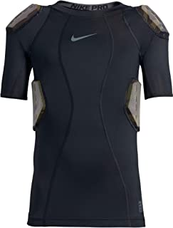 NIKE Youth Pro Hyperstrong Short Sleeve Football Top White/Camo