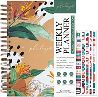 Sponsored Ad - PLANBERRY Weekly Schedule Planner Large – 8 x 10.4″ Elegant Hourly Schedule & Budget Planner for Time Manag... photo