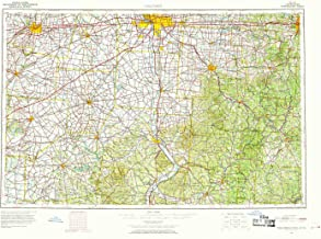 YellowMaps Columbus OH topo map, 1:250000 Scale, 1 X 2 Degree, Historical, 1967, Updated 1969, 22.1 x 32.1 in