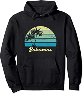 Bahamas Palm Tree Vintage Vacation Pullover Hoodie