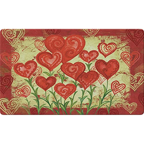 f90ed4e2e Toland Home Garden Garden Hearts 18 x 30 Inch Decorative Floor Mat Valentine  Red Heart Flower