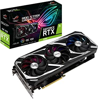 ASUS ROG STRIX NVIDIA GeForce RTX 3060 OC Edition Gaming Graphics Card (PCIe 4.0, 12GB GDDR6, HDMI 2.1, DisplayPort 1.4a, ...