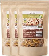 有機JAS認定 オーガニック バナナチップス 100g 3袋 (ココナッツ風味) USDA EURO CERTIFIED ORGANIC MOUNTAIN COCONUT VIRGIN CHIPS (COCONUT NECTOR SUGAR T...