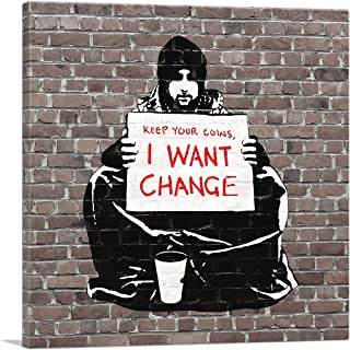 ARTCANVAS Keep Your Coins. I Want Change by Meek Canvas Art Print by Banksy - 18
