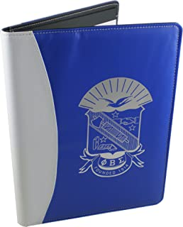 Phi Beta Sigma Shield Padfolio [Blue/White - 8.5x11