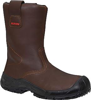 Elten Chaussures de sécurité Rigger Boot ESD S3 CI pour homme et femme, bottes d'hiver chaudes, marron, embout en acier, t...