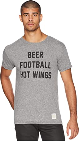Beer Football & Hotwings Vintage Tri-Blend Tee