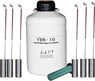 HardwareFactoryStore.com 10 L Cryogenic Container Liquid Nitrogen Ln2 Tank with Straps and Carry Bag