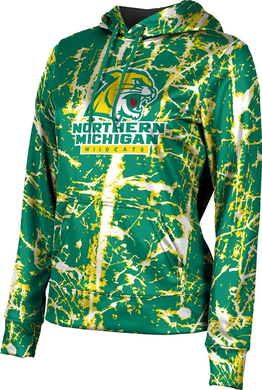 ProSphere Northern Michigan University Girls' Pullover Hoodie, School Spirit Sweatshirt (Distressed)