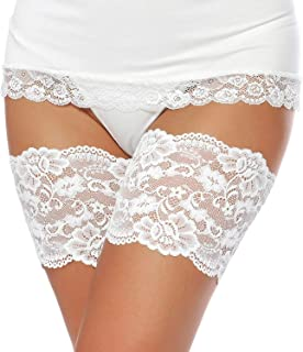 MISCHIC Women Elastic Anti-chafing Prevent Thigh Bands Sexy Lace Leg Bands