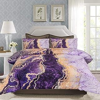 Sponsored Ad - DAILKA King Size Comforter Set - Purple Bedding Comforter Sets, Tie Dye Comforter in King Bed ,Marble King ...