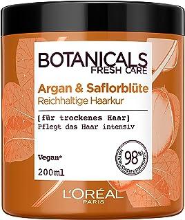 Botanicals rik korg, utan silikon för torrt hår, med argan och saflorblommor, vårdar håret intensivt, 1-pack (1 x 200 ml)
