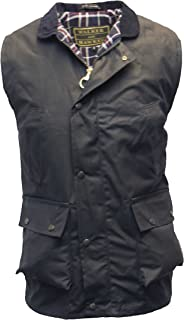 Walker and Hawkes Men's Wax Bodywarmer Waistcoat Countrywear Gilet Navy