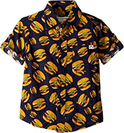 Appaman Kids - Hamburger Button Up Pattern Shirt (Toddler/Little Kids/Big Kids)