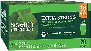 Seventh Generation Drawstring Kitchen Trash Bags 13 gal, 20 Bags
