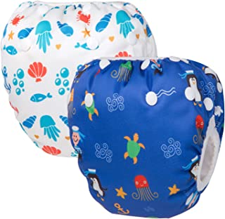JOYKK 1 St/ück Baby Schwimmwindel Wasserdicht Einstellbare Stoffwindeln Pool Pant Schwimmwindel Abdeckung 2-3 Mal wiederverwendbar M