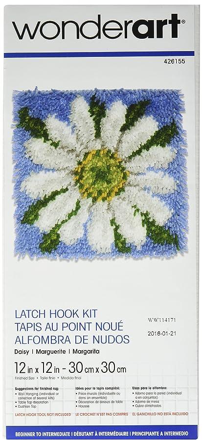 Wonderart Daisy Latch Hook Kit, 12