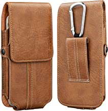 Takfox Phone Holster,Universal PU Leather Belt Clip Belt Loop Case for iPhone Xs Max XR XS X 8 Plus 7 Plus 6 6s Plus, Samsung Galaxy S10 Plus S10 S9 S8 S7 J7, LG G8, Moto Z3 Play up to 6.5