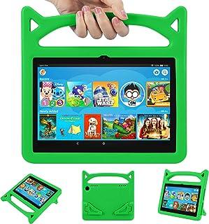 جراب للأطفال 2020 Tablet 8/8 Plus - جراب Auorld خفيف الوزن مقاوم للأطفال مع حامل للتابلت 8 بوصة (أخضر)