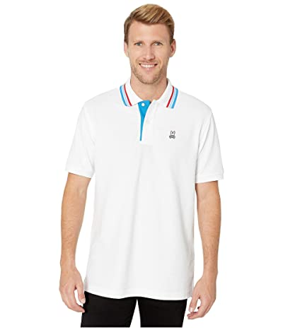 Psycho Bunny Shortlands Polo (White) Men