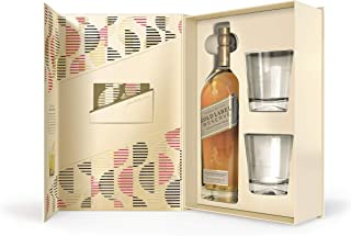 Johnnie Walker Gold Label, Geschenkpackung mit 2 GläsernBlended Whisky 1 x 0.7 l