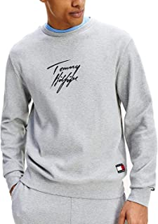 Tommy Hilfiger Signature Organic Cotton Men's Sweatshirt, Navy