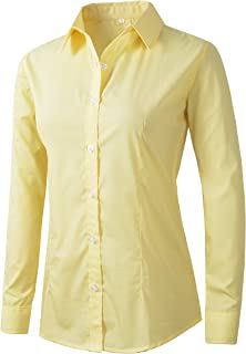 Benibos Women's Formal Work Wear White Simple Shirt