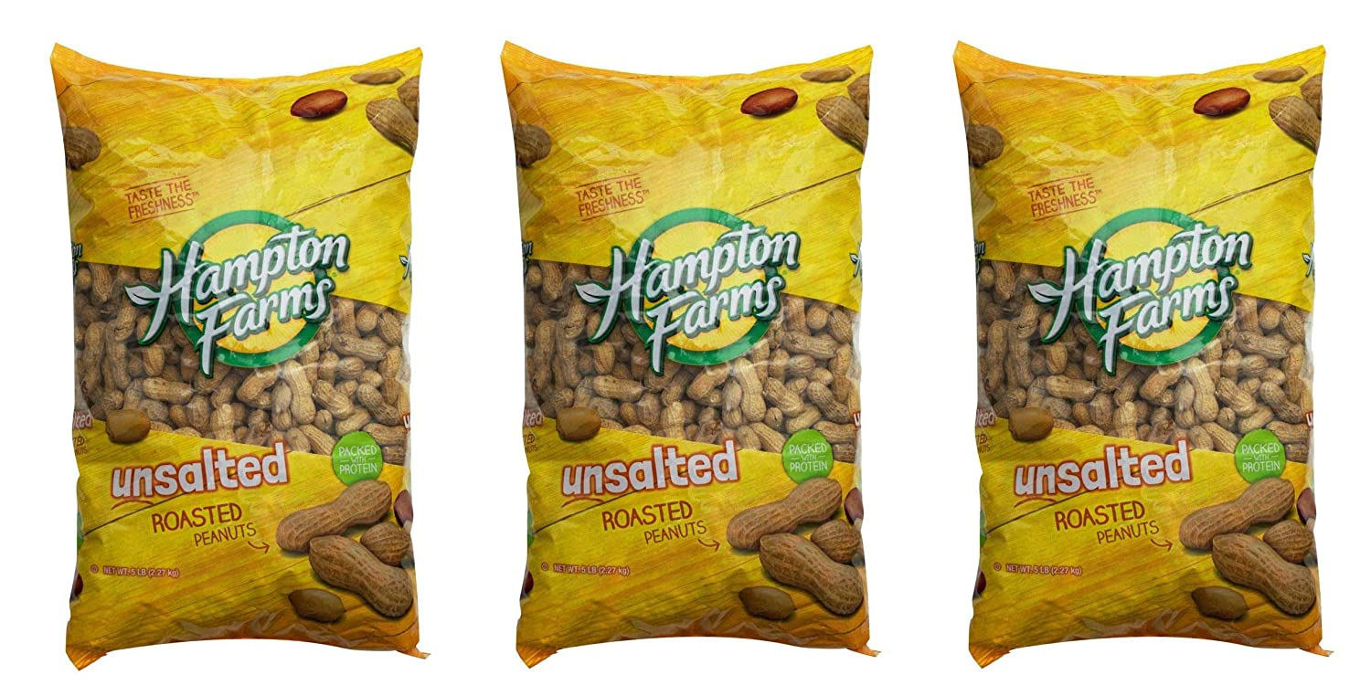 Product of Hampton Farms Unsalted Roasted Be super Seattle Mall welcome In-Shell 5 Peanuts lb