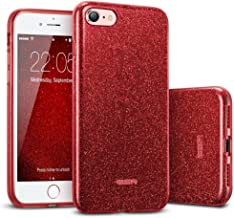 ESR Glitter Case for iPhone SE 2020 Cover iPhone 8 iPhone 7 Cover Glitter Sparkle Case for Women [Three Layers] [Supports ...