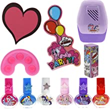 TownleyGirl Super Fun Nail Set with 6 Nail Polishes, Nail Dryer and Nail Buffers, 12 CT (My Little Pony)