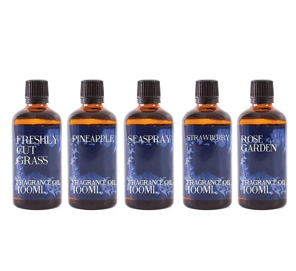 自発的インレイ怒ってMystic Moments   Gift Starter Pack of 5 x 100ml - Summer - Fragrant Oil
