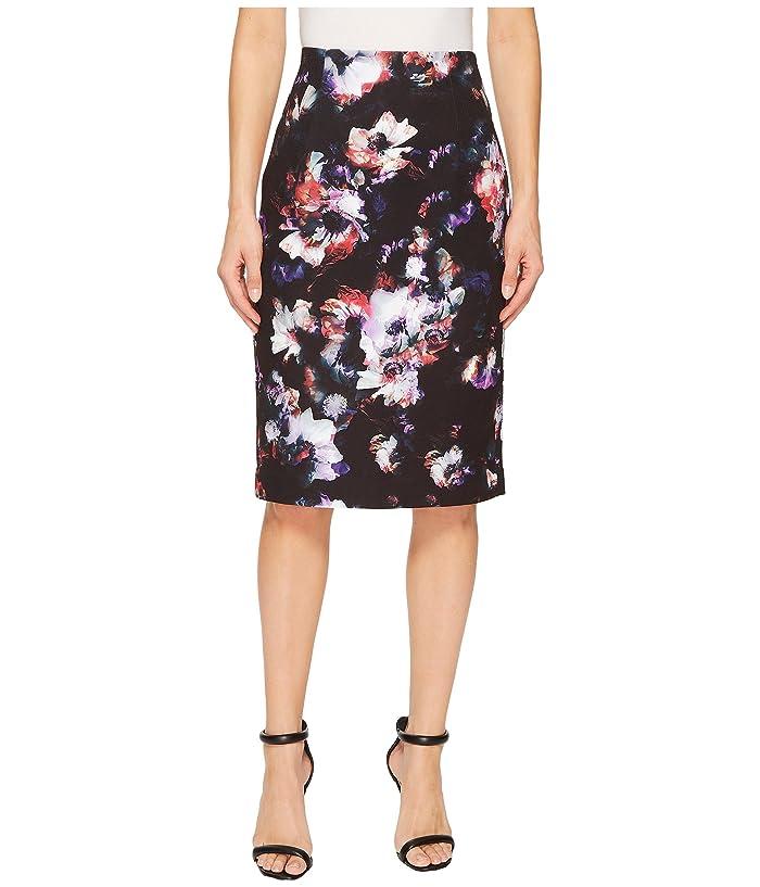 Ellen Tracy High Waist Pencil Skirt (Radiant Blossom) Women