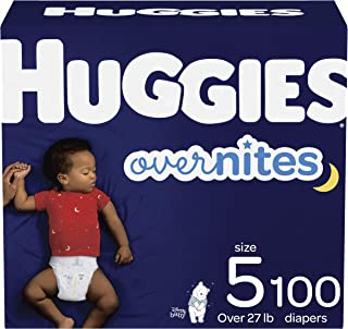 Nighttime Baby Diapers Size 5, 100 Ct, Huggies Overnites
