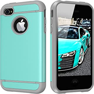 iPhone 4S Case, iPhone 4 Case, CHTech Dual Layer Hybrid Slim Armor Case with Solid PC and Shockproof TPU for iPhone 4 / 4S (Teal)