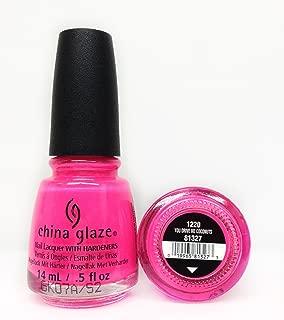 China Glaze Clay Lacquer Nail Polish YOU DRIVE ME COCONUTS Bright Hot Pink 81327